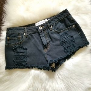 SALE! Gypsy Warrior Black Distressed Frayed Shorts